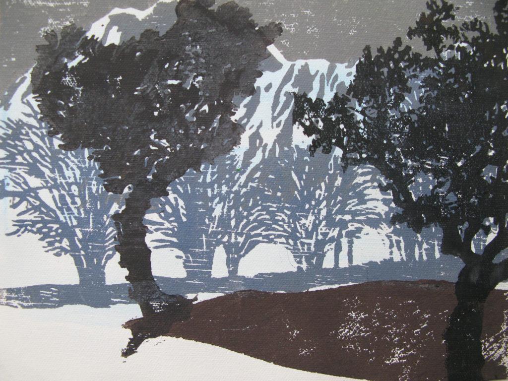 Bäume II, 2015, 30 x 21 cm, Holzschnitt
