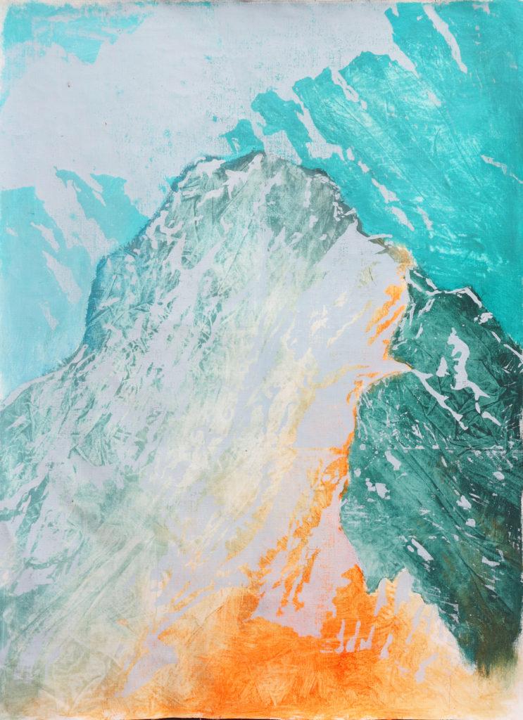 Grat III, Holzschnitt, 2014, 56 x 80 cm